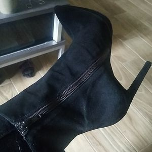 Jeffery Campbell Black Suede Boots